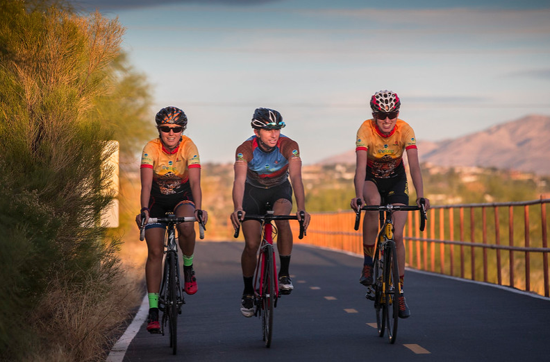 Riders on The Loop in Tucson